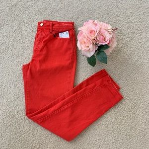 New Zara Mom Fit High Waisted Distressed Jeans 2